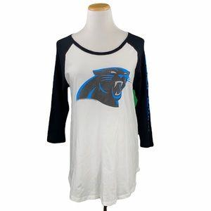 Junk Food NFL Carolina Panthers 3/4 Sleeve Tee
